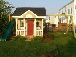 playhouse and swingset kiddos pinterest playhouses backyard