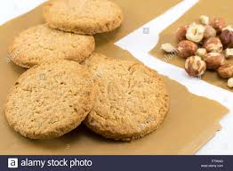 integral cookies and natural fresh hazelnuts healthy dessert