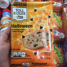 found nestle toll house halloween chocolate chip cookie dough