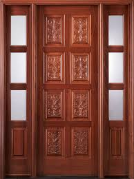 Carved Exterior Doors Mahogany Carved Exterior Doors