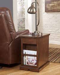 Lamps For Living Room by Oak Wood Chairside End Table With Drawer And Magazine Rack Plus