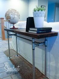 Diy Sofa Table Easy Diy Sofa Table With Pipe Frame Sawdust