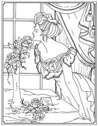 creative haven american beauties coloring book dover publications