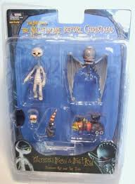 mummy boy bat kid figure set from our nightmare before
