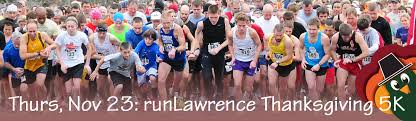 2017 runlawrence thanksgiving day 5k