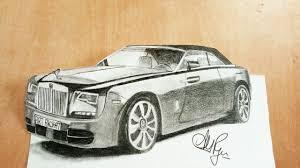 how to draw rolls royce phantom how to draw a 3d car amazing