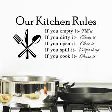 kitchen wall decor stickers roselawnlutheran 2015 hot our kitchen rules quote vinyl art wall stickers decal mural home decor pvc wall