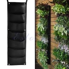 7 pocket indoor outdoor wall balcony herbs vertical garden hanging