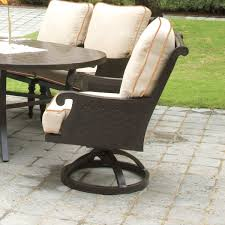 Swivel Patio Dining Chairs Pride Family Brands Jakarta Swivel Patio Dining Chair With Cushion