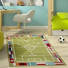 teppich kinderzimmer junge kinderteppich modern kinderzimmer teppich fußballplatz für jungen