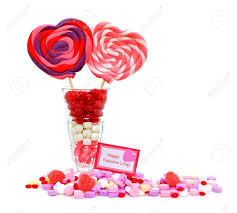 s day lollipops happy valentines day card with candies and lollipops in a sundae