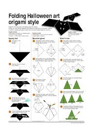 Bat Template Halloween by Origami Halloween Folding Halloween Art Origami Style Bei