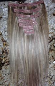 black low lights for grey ash blonde with light brown low light clip in extensions 18 inch