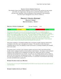 police reports template project report sample how to write a project report free project report template 06