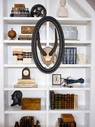 arrange living room furniture open floor plan bookshelf and wall shelf decorating ideas hgtv