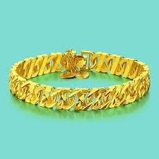 bracelet gold style images Fashion style boys 24k yellow gold bracelet bracelet design real jpg