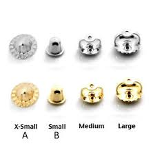 earring back types backing back earring back s 14k yellow or white gold small