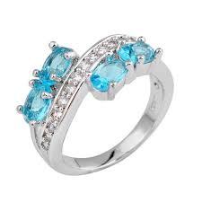 light blue sapphire engagement rings get cheap light blue sapphire engagement ring aliexpress