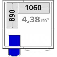 chambre froide d駑ontable chambre froide positive cfp1717 démontable 4 38m3 inclus