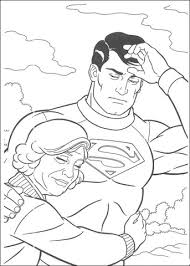 superman saved woman coloring free printable