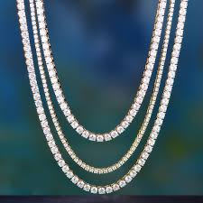 white gold necklace set images 14k white gold three layered tennis chain set aporro brand jpg