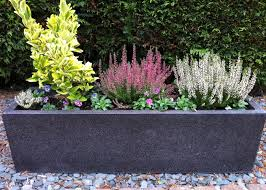 planters fibreglass planters modern trough large fibreglass
