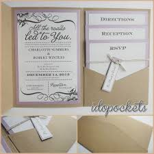 wedding invitation pockets diy pocket wedding invitation kits dogobedience co