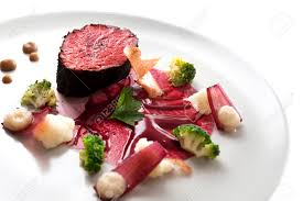molecular cuisine delicious modern veal fillet served with sauce molecular cuisine