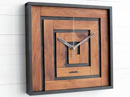 wall clock thanksgiving gift square clock maze decor