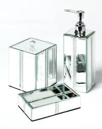 mirrored bathroom accessories mirrored bathroom accessories sets mirror bling bathroom set of 3