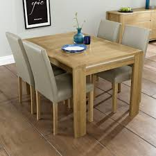 extendable dining table and 4 chairs zenboa