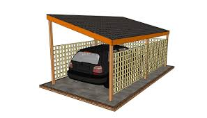 carport plans attached to house wooden carport plans howtospecialist how to build step by