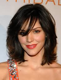 medium short haircut for thick hair women medium haircut