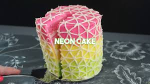 neon cake recipe tastemade