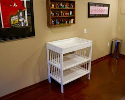 Changing Table Shelves by Diy Challenge Changing Table To Craft Bench Dads Who Diaper