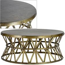 Metallic Coffee Table by Hammered Coffee Table