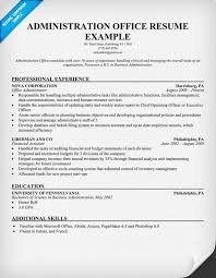 administration office resume resumecompanion com resumes and