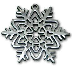 geometric snowflake ornament gibson pewter
