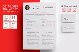 2 page resume template 50 eye catching cv templates for ms word free to