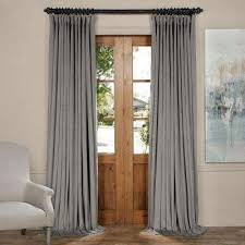 Velvet Blackout Thermal Curtains Curtains U0026 Drapes Window Treatments The Home Depot