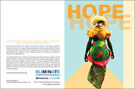 two note cards for unicef de bruce design