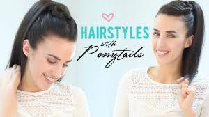 easy hairstyles with ponytails youtube