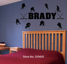 personalized name hockey players vinyl wall decal sticker wall personalized name hockey players vinyl wall