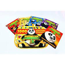 fu panda 3 sticker activity colouring 6 books collection