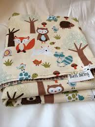 woodland animals baby bedding woodland forest animal baby blanket flannel baby by dwelldarling
