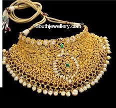 bridal choker necklace images Antique gold bridal choker jewellery designs jpg