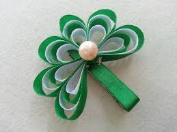 shamrock ribbon 20 best ribbon st s day hair bows and images on