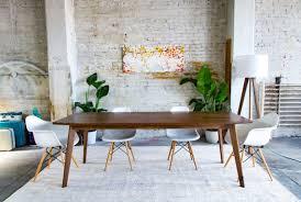 mid century walnut dining table mid century dining table modern dining table dining table