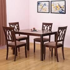 home by nilkamal peak four seater dining table set beige best