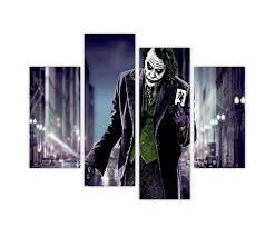 Batman Home Decor Iconic Batmans Joker Holding Playing Card In Dark Road Pop Art
